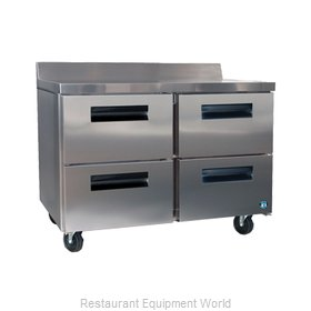 Hoshizaki CRMR48-WD4 Refrigerated Counter, Work Top