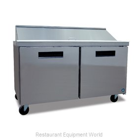 Hoshizaki CRMR60-16 Refrigerated Counter, Sandwich / Salad Top