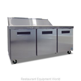 Hoshizaki CRMR72-16 Refrigerated Counter, Sandwich / Salad Top