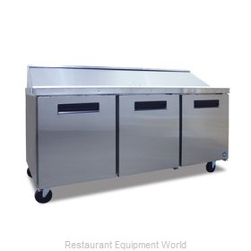 Hoshizaki CRMR72-18 Refrigerated Counter, Sandwich / Salad Top