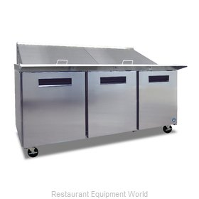 Hoshizaki CRMR72-24M Refrigerated Counter, Mega Top Sandwich / Salad Unit