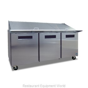 Hoshizaki CRMR72-30M Refrigerated Counter, Mega Top Sandwich / Salad Unit