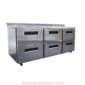 Hoshizaki CRMR72-WD6 Refrigerated Counter, Work Top