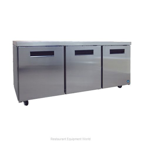 Hoshizaki CRMR72 Reach-in Undercounter Refrigerator 3 section (Magnified)