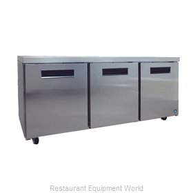 Hoshizaki CRMR72 Reach-in Undercounter Refrigerator 3 section