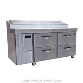 Hoshizaki HPR72A-D Pizza Prep Table Refrigerated
