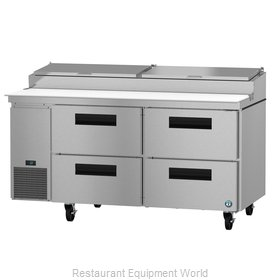 Hoshizaki PR67A-D4 Refrigerated Counter, Pizza Prep Table