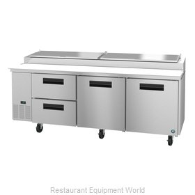 Hoshizaki PR93A-D2 Refrigerated Counter, Pizza Prep Table