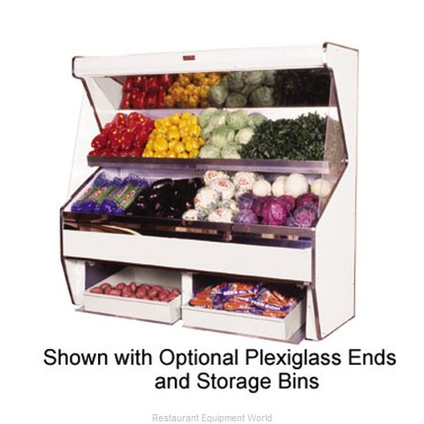 Howard McCray SC-P32E-4S-SS Display Case Open Produce
