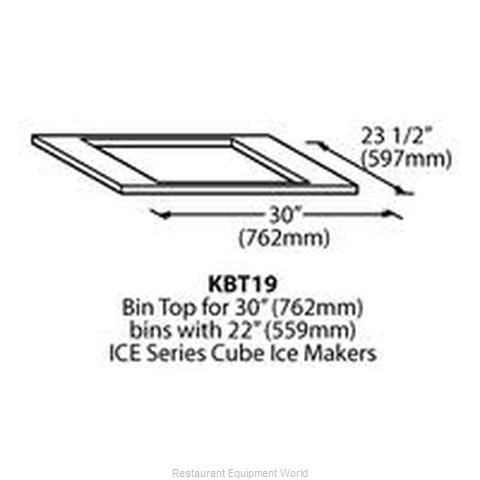 Ice-O-Matic KBT19 Ice Bin Top (Magnified)