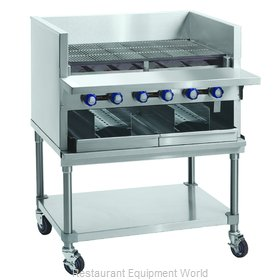 Imperial IABA-72 Charbroiler, Gas, Countertop