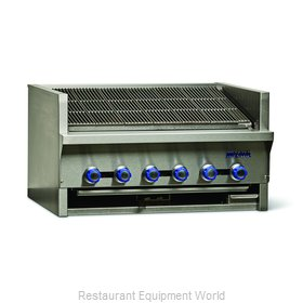 Imperial IABR-36 Charbroiler, Gas, Countertop