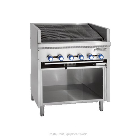 Imperial IABRF-48 Charbroiler, Gas, Floor Model (Magnified)