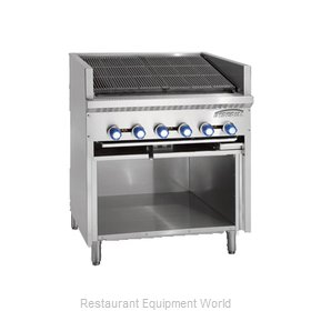 Imperial IABRF-48 Charbroiler, Gas, Floor Model