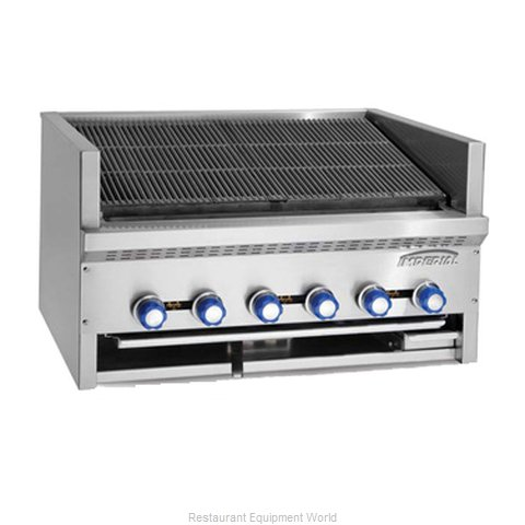 Imperial IABS-36 Charbroiler, Gas, Countertop