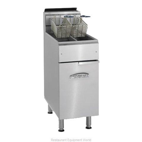 Imperial IFS-2525 Fryer, Gas, Floor Model, Split Pot