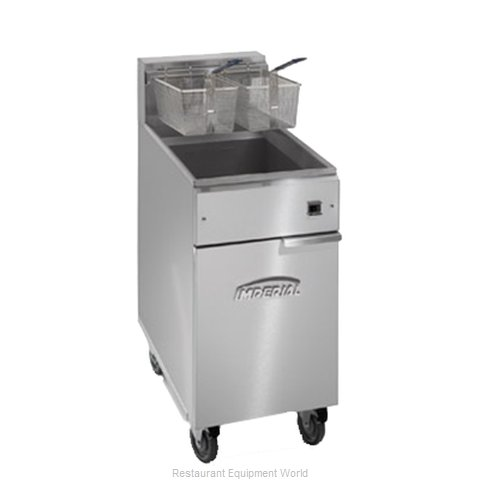 Imperial IFS-40-E Fryer Floor Model Electric Full Pot (Magnified)