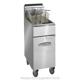 Imperial IFS-40-OP Fryer Floor Model Gas Full Pot