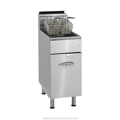 Imperial IFS-40 Fryer Floor Model Gas Full Pot (Magnified)
