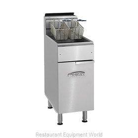 Imperial IFS-40 Fryer Floor Model Gas Full Pot