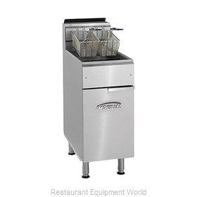 Imperial IFS-40 Fryer, Gas, Floor Model, Full Pot