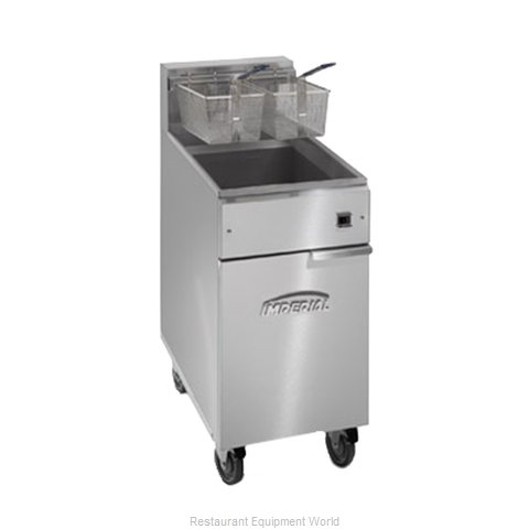 Imperial IFS-50-E Fryer, Electric, Floor Model, Full Pot (Magnified)