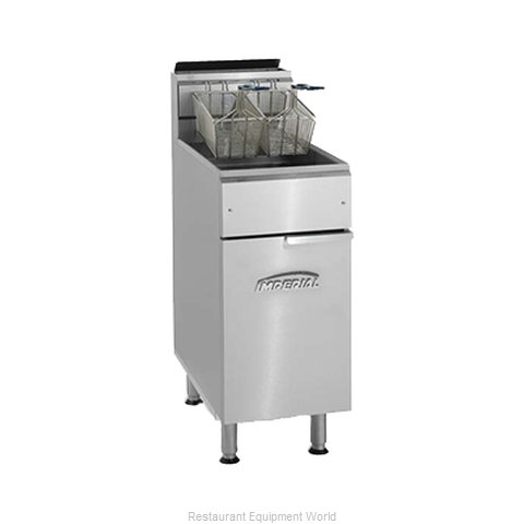 Imperial IFS-50 Fryer Floor Model Gas Full Pot (Magnified)