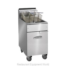 Imperial IFS-75-OP Fryer Floor Model Gas Full Pot