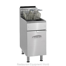 Imperial IFS-75 Fryer, Gas, Floor Model, Full Pot