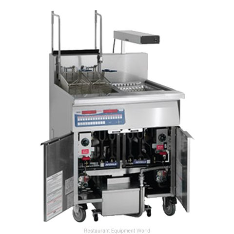 Imperial IFSCB-150-OP-C Fryer Floor Model Gas Full Pot