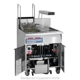 Imperial IFSCB-150-OP-T Fryer, Gas, Floor Model, Full Pot