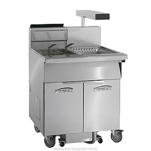 Imperial IFSCB-175-OP-C Fryer Floor Model Gas Full Pot