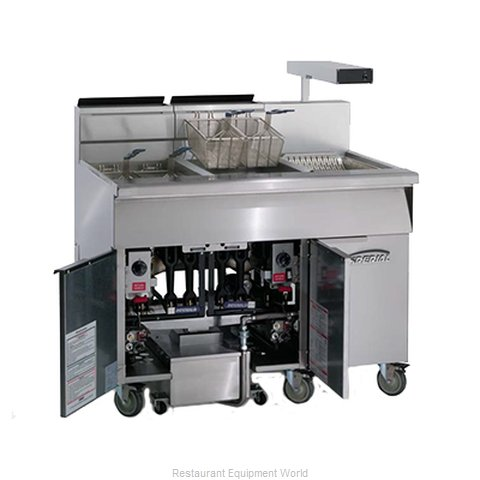 Imperial IFSCB-175 Fryer Floor Model Gas Full Pot