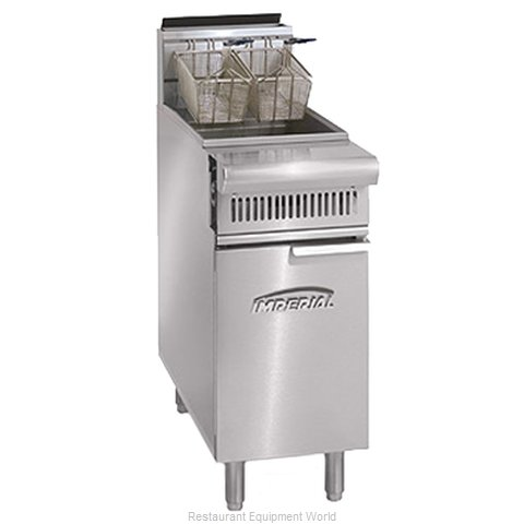 Imperial IHR-F2525 Fryer Floor Model Gas Split Pot