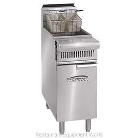 Imperial IHR-F2525 Fryer, Gas, Floor Model, Split Pot