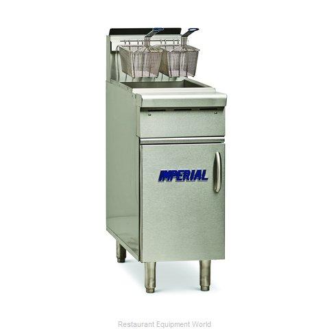 Imperial IHR-F50 Fryer, Gas, Floor Model, Full Pot