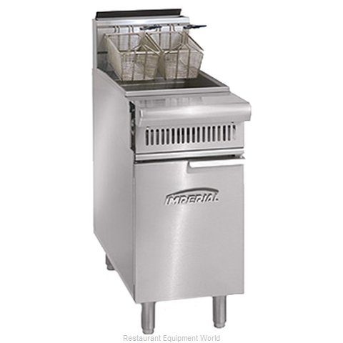Imperial IHR-F75 Fryer, Gas, Floor Model, Full Pot (Magnified)
