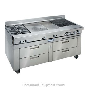 Imperial IHR-XX-RM-72 Equipment Stand, Refrigerated Base