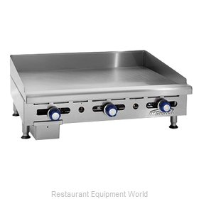 Imperial IMGA-2428-OB-2 Griddle / Hotplate, Gas, Countertop