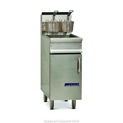 Imperial IRF-40 Fryer, Gas, Floor Model, Full Pot