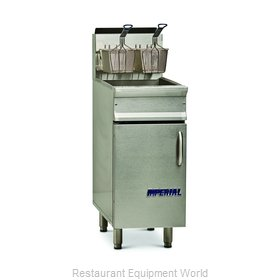 Imperial IRF-40 Fryer, Gas, Floor Model, Full Pot