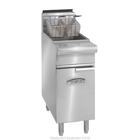 Imperial IRF-40SS Fryer Floor Model Gas Full Pot (Magnified)