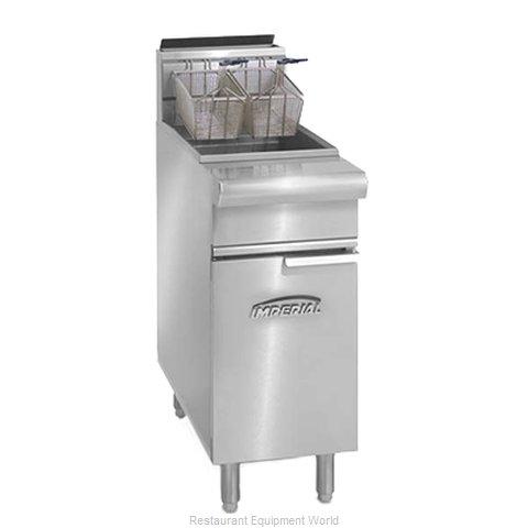 Imperial IRF-75 Fryer, Gas, Floor Model, Full Pot