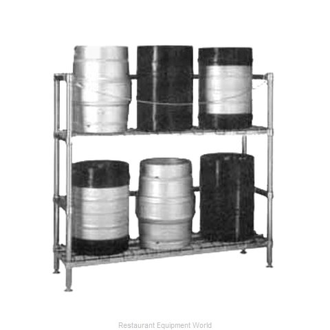 Intermetro 2KR345DC Beer-Keg Handling Rack