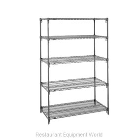 Intermetro 5AA437K3 Shelving Unit, Wire