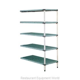 Intermetro 5AQ377G3 Shelving Unit, Plastic with Metal Post