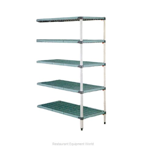 Intermetro 5AQ537G3 Shelving Unit, Plastic with Metal Post