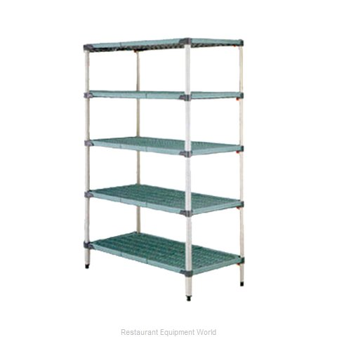 Intermetro 5Q457G3 Shelving Unit, Plastic with Metal Post (Magnified)
