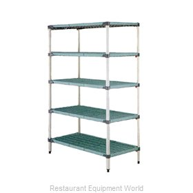 Intermetro 5Q457G3 Shelving Unit, Plastic with Metal Post