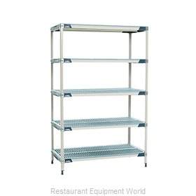 Intermetro 5X327GX3 Shelving Unit, All Plastic